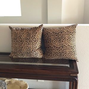 Two Leopard Print Pillows
